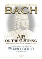 Air On The G String by J S Bach arranged for Piano Solo