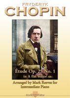 Chopin - Etude Op 25 No 1 arranged for Intermediate Piano
