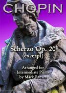 Chopin - Scherzo Op 20 (excerpt) for Intermediate Piano