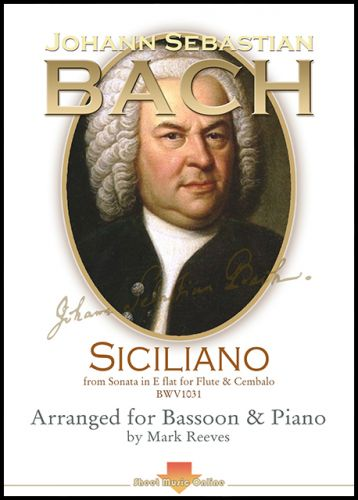 Siciliano by J S Bach arranged for Bassoon and Piano