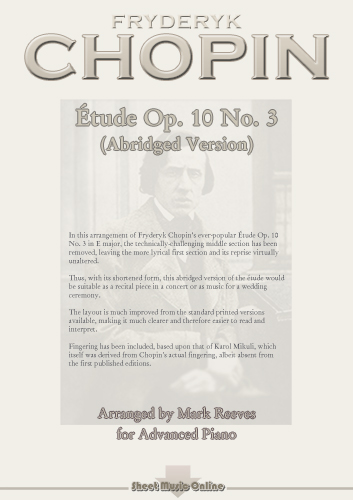 Chopin - Etude Op 10 No 3 (abridged version)